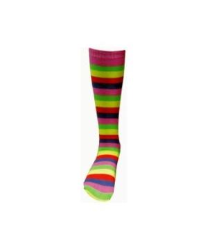 Pink Striped Knee Kids Socks