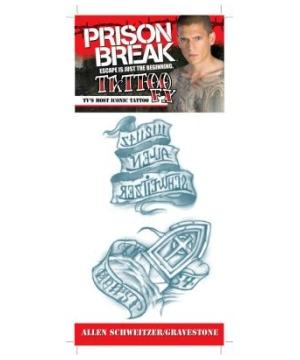 Prison Break Schweitzer Gravestone Tattoo