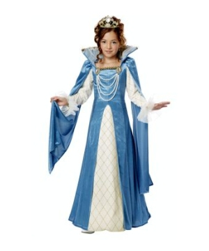 Renaissance Queen Dress Kids Costume