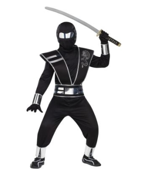 Silver Mirror Ninja Boys Costume