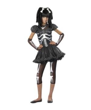Skeleton Girl Kids Costume