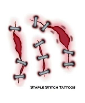 Staple Stitch Tattoos