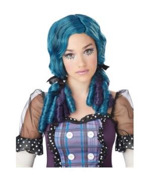 Teal Doll Curls Kids Wig