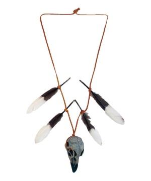 Warrior Skull Arrowhead Pendant Necklace
