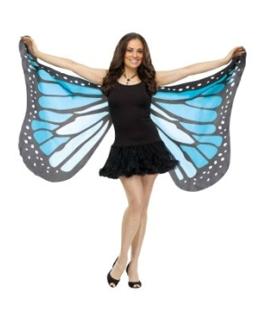Womens Blue Butterfly Wings