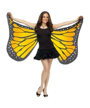 Womens Orange Butterfly Wings