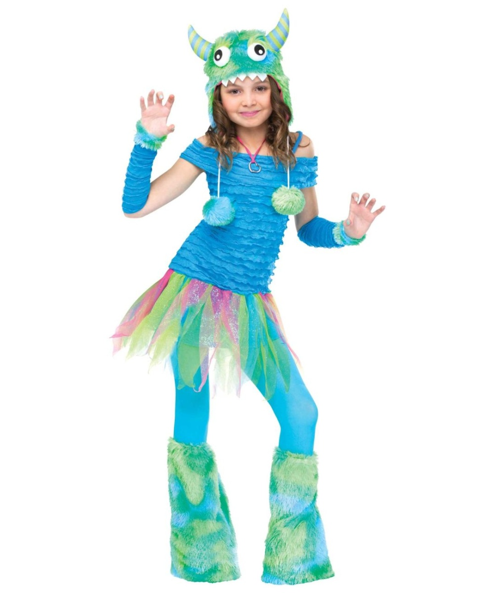 Blue Beastie Kids Costume