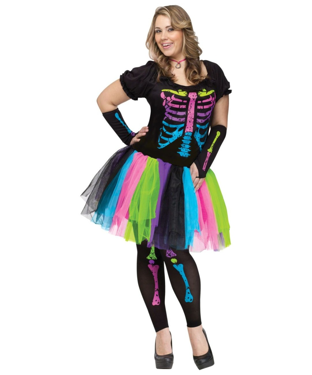 adult funky punk bones halloween costume - women costumes