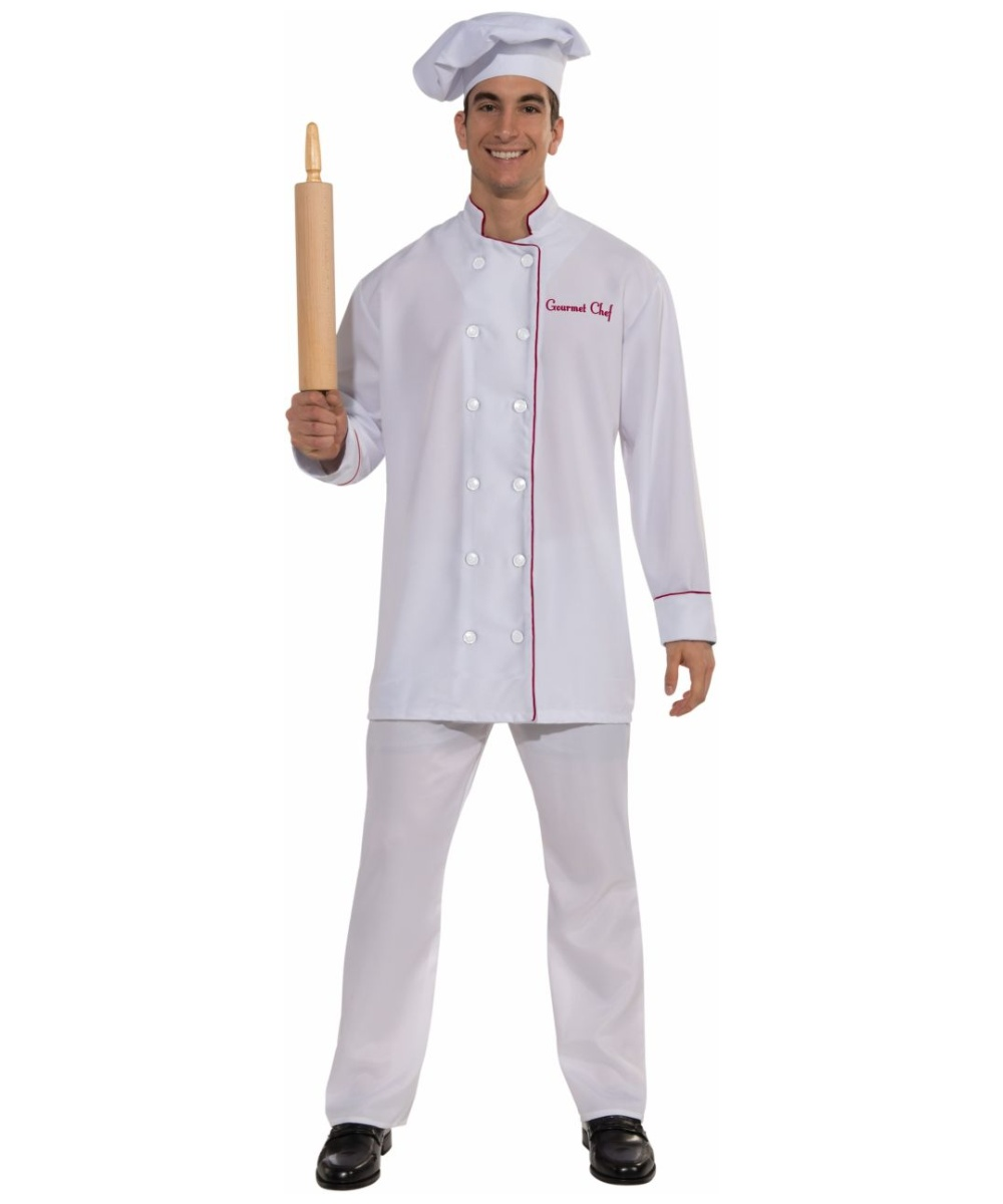 Adult Gourmet Chef Halloween Costume Men Cook Halloween