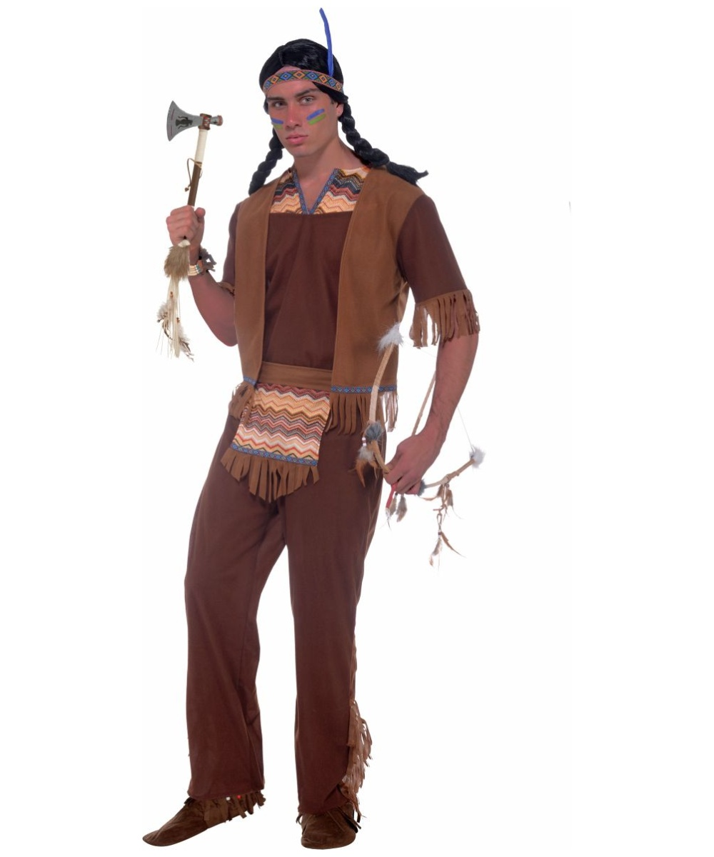 Native American Brave Indian Costume for Adults - Indian Costumes