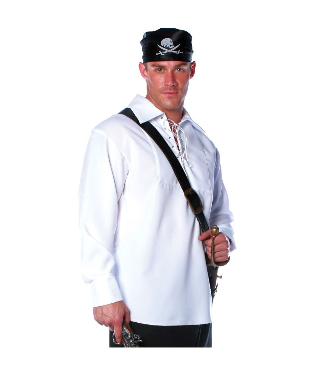 Adult Pirate Shirt plus size Halloween Costume White