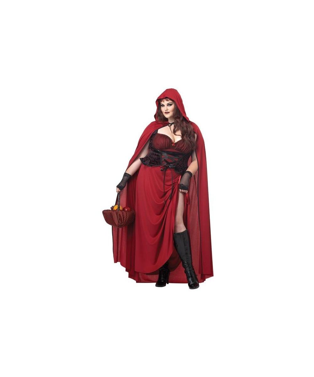 Adult Dark Red Riding Hood plus size Movie Costume