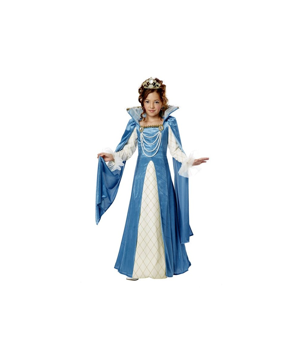 Renaissance Queen Kids Costume Girls Costume