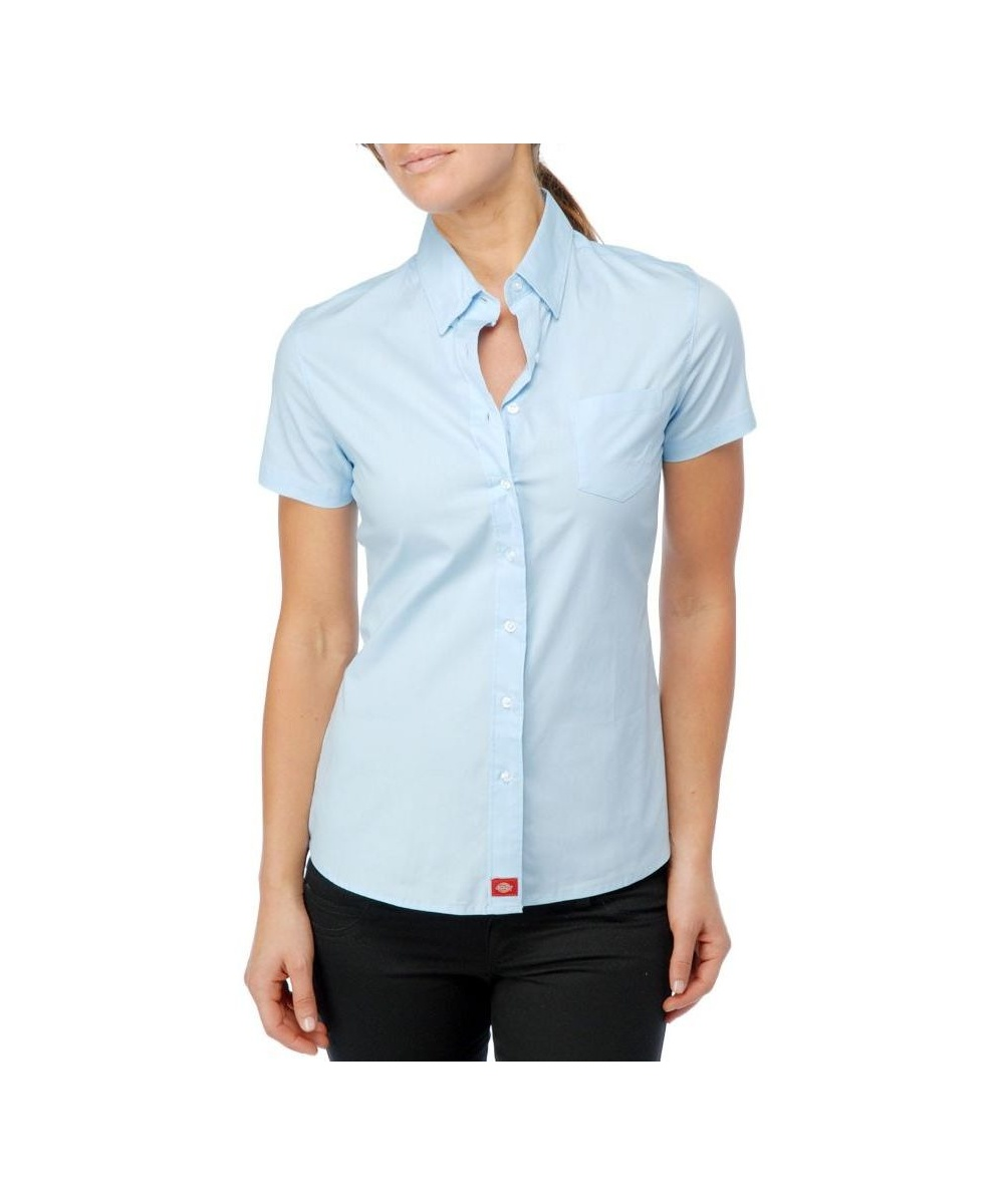 Dickie 39 S Juniors Short Sleeve Buttoned Down Shirt Baby Blue