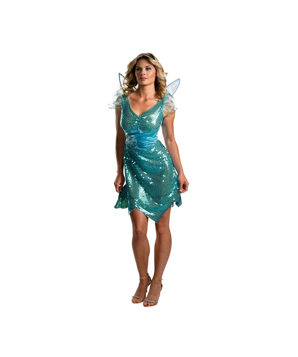 Water Nymph Costume Adult Sparkling Fairy ...