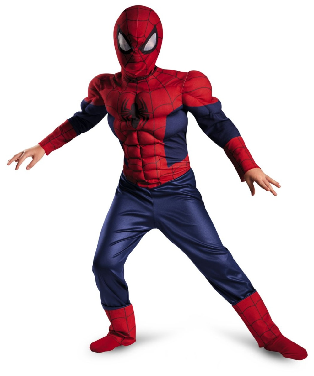 Ultimate Spider Man Classic Muscle Kids Costume Boys