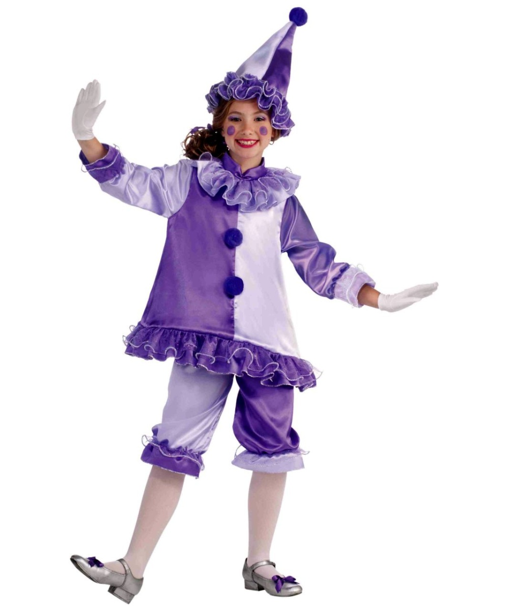 Violet Clown Kids Costume