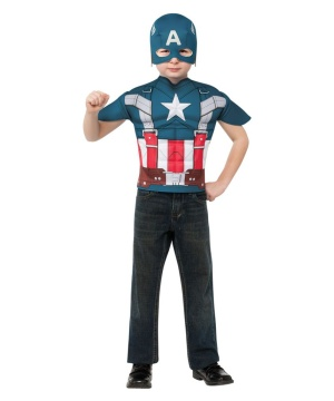Boys Captain America Costume