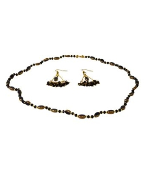 Black Beaded Jewelry Set