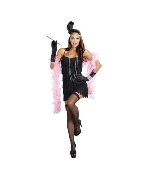 Black Flapper plus size Costume