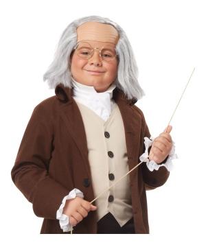 Boys Benjamin Franklin Wig
