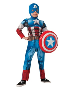 Boys Marvel Captain America Costume
