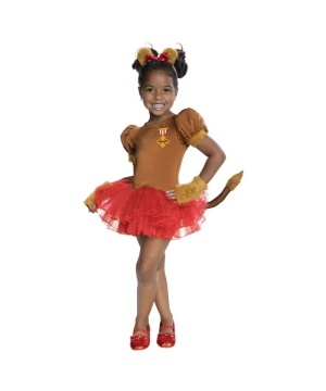 Cowardly Lion Girls Costume