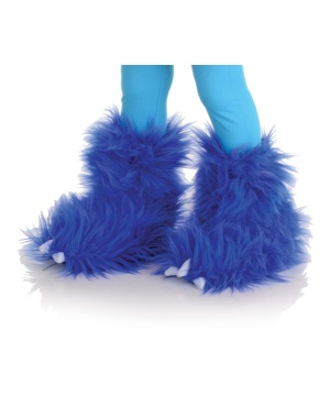Electric Blue Monster Kids Boots
