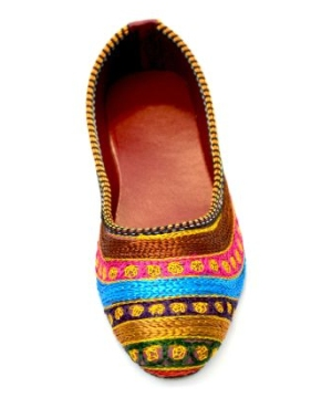 Indian Hand Embroidered Flat Womens Shoes size 7