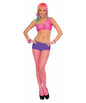 Fishnet Womens Pantyhose Pink