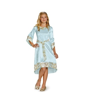 Girls Aurora Blue Gown Costume