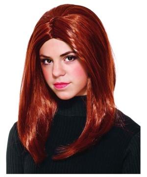 Girls Black Widow Wig