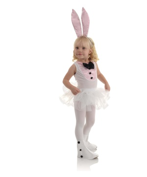 Girls Bunny Ballerina Costume