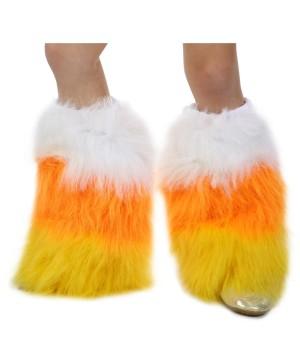 Girls Candy Corn Leg Warmers