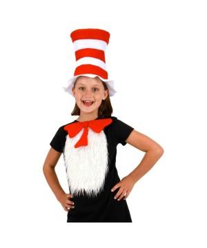 Girls Cat in Hat Costume Kit