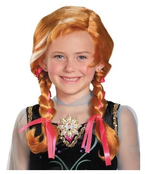 Girls Disney Frozen Anna Wig