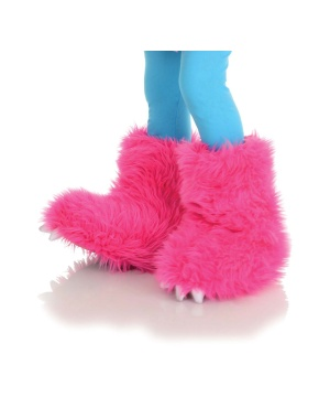 Girls Hot Pink Monster Boots