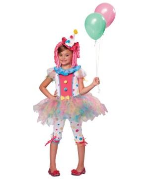 Girls Kaleidoscope Clown Costume