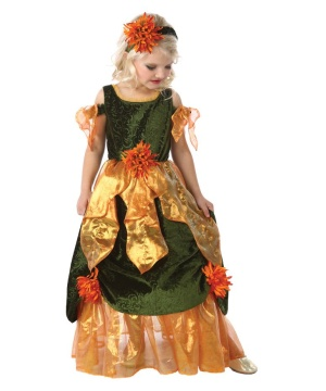 Girls Maple Fall Princess Costume