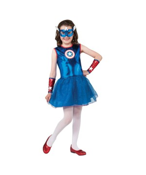 Girls Marvel Captain America Costume