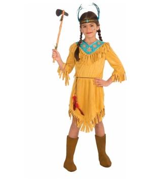 Girls Native American Little Flower Costume