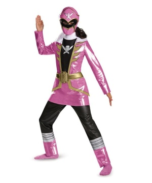 Girls Pink Ranger Megaforce Costume