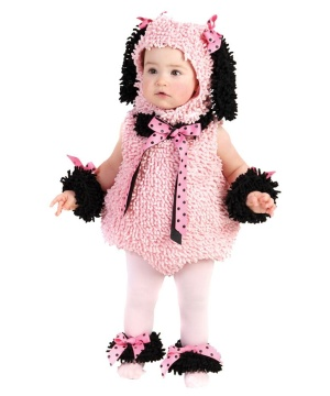 Girls Pinkie Poodle Baby Costume