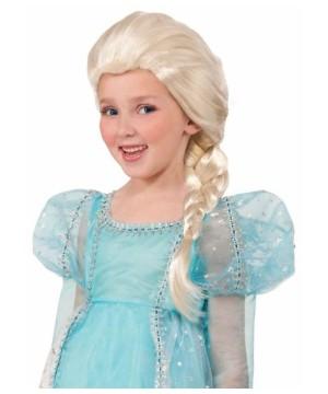 Girls Princess Elsa Wig