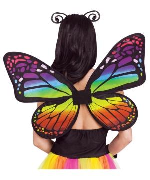 Girls Rainbow Butterfly Wings