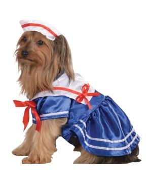 Girls Sailor Pet Costume