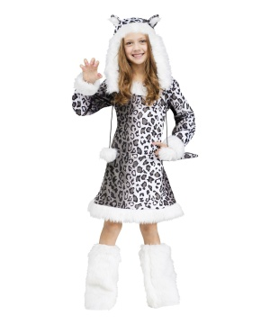 Girls Snow Leopard Costume