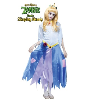 Girls Zombie Sleeping Beauty Costume