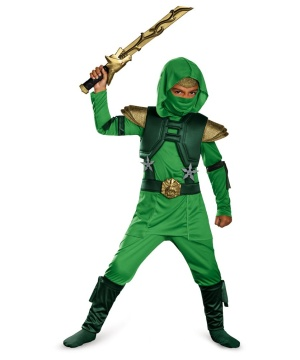 Green Ninja Boys Costume
