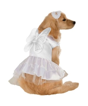 Heavenly Angel Dog Costume